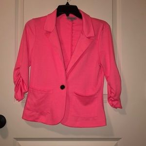 Charlotte Russe One Button Pocket Blazer